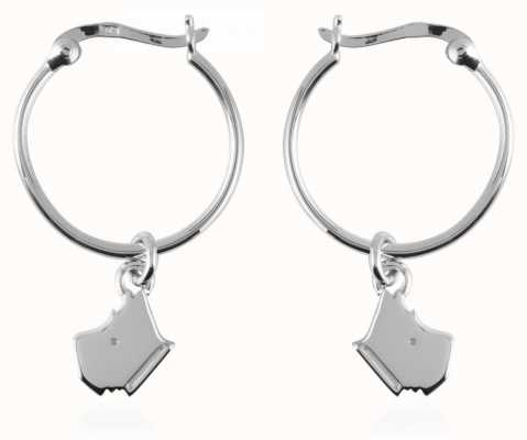 Radley Jewellery Love Radley Silver Radley Dog Head Hoop Earrings RYJ1023