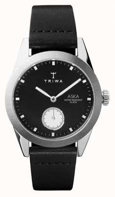 Triwa Slate Aska Black Dial Stainless Steel Case Black Leather AKST107-SS010212