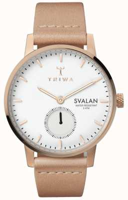 Triwa Rose Svalan White Dial Rose Gold Stainless Steel Case SVST104-SS010614