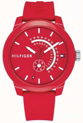 Tommy Hilfiger Red Denim Day & Date Display 1791480