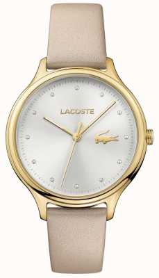 Lacoste Ladies Constance Crystal Set Silver Dial Gold Case 2001007