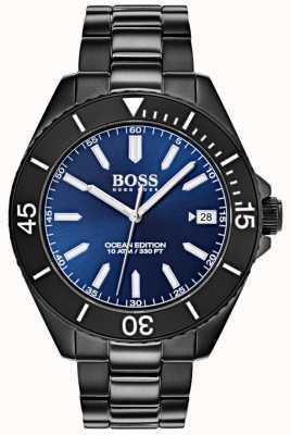 Boss Ocean Edition Blue Dial Date Display Black IP Bracelet 1513559
