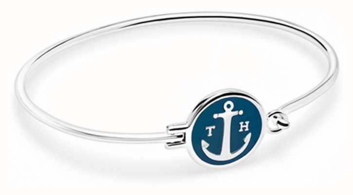 Tom Hope Silver Plated Sapphire Blue Bracelet Size Medium TM0301
