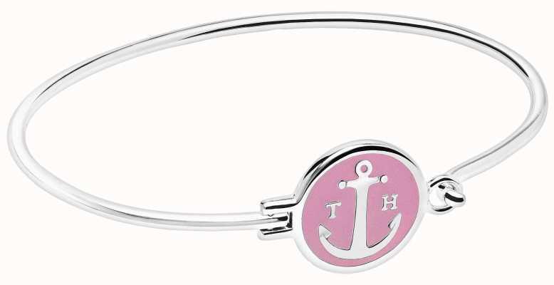 Tom Hope Silver Plated Sunset Pink Bracelet size Medium TM0311