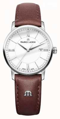 Maurice Lacroix Womens Eliros Brown Leather Strap Silver DialLadies EL1094-SS001-110-1
