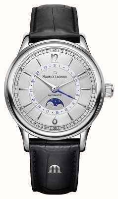 Maurice Lacroix Les Classiques Mens Moonphase Black Leather Strap LC6168-SS001-120-1