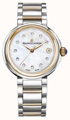 Maurice Lacroix Womens Fiaba Mother Of Pearl Dial Two Tone Bracelet FA1007-PVP13-170-1