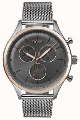 Boss Mens Companion Chronograph Watch Grey 1513549