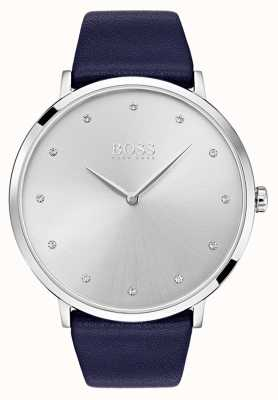 Hugo Boss Womens Jillian Watch Blue Leather Strap 1502410