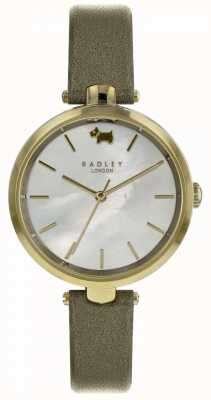 Radley Womens St Dunstans Olive Shimmer Leather Watch RY2550