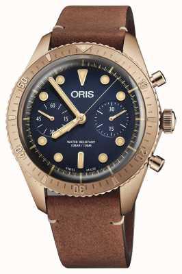 Oris Limited Edition Carl Brashear Bronze Chronograph 01 771 7744 3185-SET LS