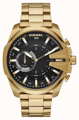 Diesel Mens Megachief Hybrid Smartwatch Gold Tone Bracelet DZT1013