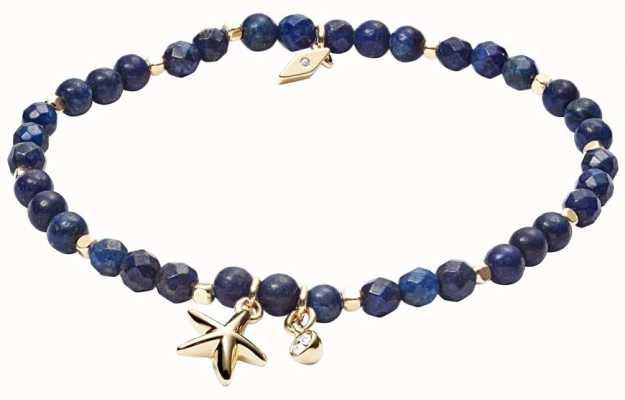 Fossil Starfish Bracelet With Blue Lapis Stones JA6946710