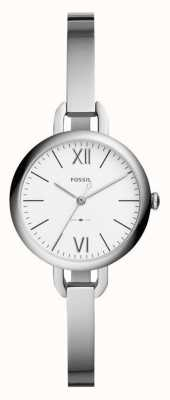 Fossil Womens Annette Silver Tone Bangle Watch ES4390