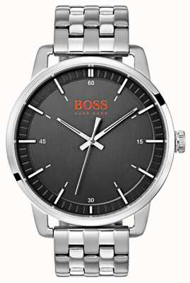 Hugo Boss Orange Stockholm Men's Black Dial Silver Stainless Steel Bracelet 1550075