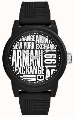 Armani Exchange Mens Atlc Silicone Strap AX1443