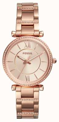 Fossil Womens Carlie Stainless Steel Strap ES4301