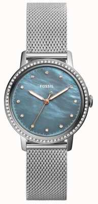 Fossil Womens Neely Stainless Steel Mesh Strap ES4313