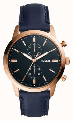 Fossil Mens 44Mm Townsman Leather Strap FS5436