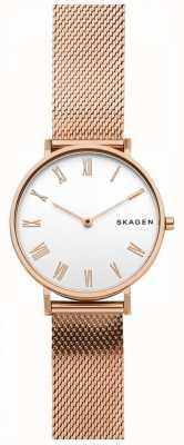 Skagen Womens Hald Rose Gold Mesh Strap SKW2714