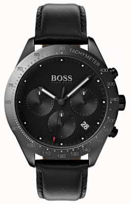 BOSS Talent Chronograph Black Dial Date Display Black Leather 1513590