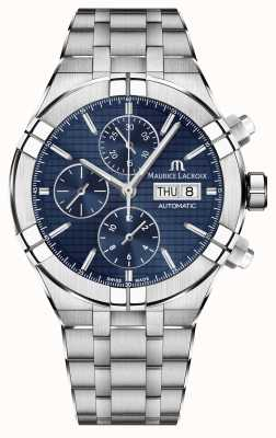 Maurice Lacroix Aikon Automatic Chronograph Stainless Steel Blue Dial Watch AI6038-SS002-430-1
