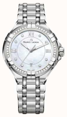 Maurice Lacroix Eliros Ladies Moonphase Mother Of Pearl Stainless Steel EL1096-SD502-107-1