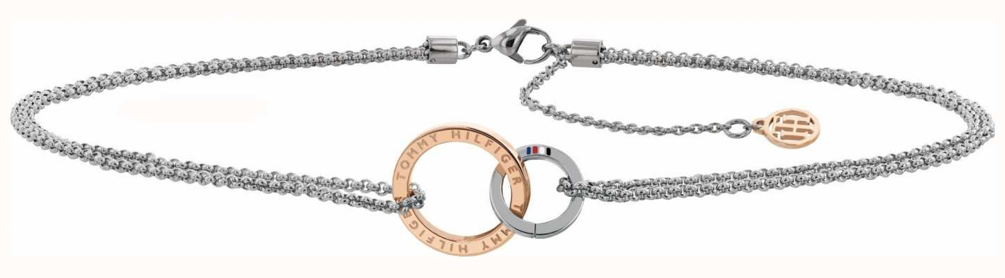 Tommy Hilfiger Choker Chain Necklace With Rose Gold Accent 2780016