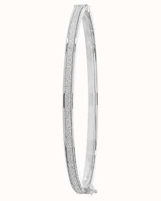 Treasure House 9k White Gold Hinged Bangle BN837W