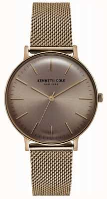 Kenneth Cole Stainless Steel Rose Gold-tone Mesh Watch KC15183002