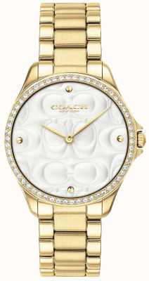 Coach Womens Modern Sport Watch In Gold 14503071