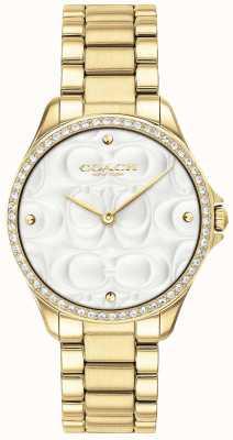 Coach Womens Modern Sport Watch In Gold 14503071