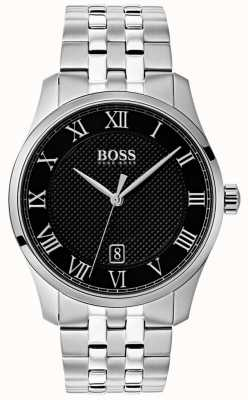 Boss Mens Master Stainless Steel Black Dial Watch 1513588