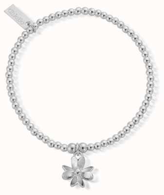 ChloBo Sterling Silver Cute Charm 3D Flower Bracelet SBCC128