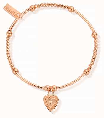 ChloBo Rose Gold Plated Cute Mini Decorated Heart Bracelet RBCM017