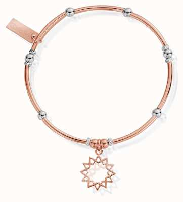 ChloBo Rose And Silver Wishful Soul Star Bracelet MBMNBR591