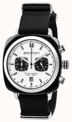 Briston Clubmaster Sport Timeless Black Strap White Dial 17142.SA.BS.2.NB