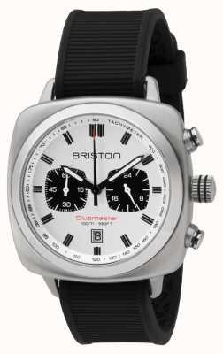 Briston Clubmaster Sport Black Rubber Strap white Dial 16142.S.SP.2.RB