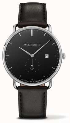 Paul Hewitt GRAND ATLANTIC Black Leather Quartz PH-TGA-S-B-2M