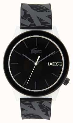 Lacoste Unisex Motion Watch Black And Grey Rubber Strap 2010937