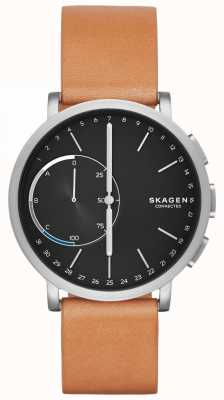 Skagen Hagen Connected Smart Watch Brown Leather Strap Black Dial SKT1104