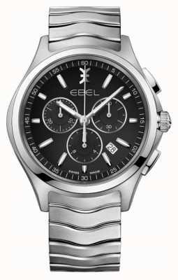 EBEL Men's Chronograph Black Dial Stainless Steel Silver Case 1216342
