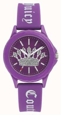 Juicy Couture Womens Purple Silicone Strap Watch Purple Crown Dial JC-1001PRPR