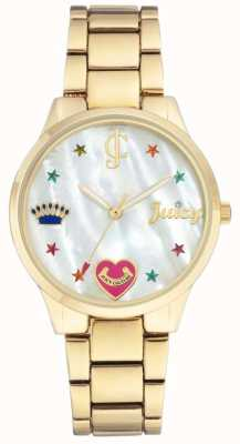 Juicy Couture (no box) Womens Gold Tone Steel Bracelet Watch JC-1016MPGB