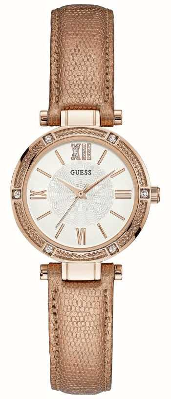 f2136a41d4b5 Guess Womens Park Avenue South Metallic Leather Strap Rose Gold ...