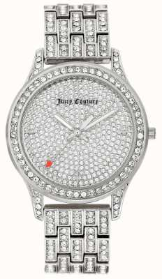 Juicy Couture Womens Silver Tone Stainless Steel Bracelet JC-1045PVSV