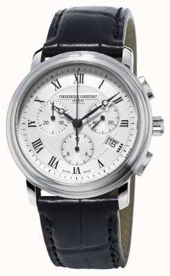 Frederique Constant Men's Classics Chronograph Black Leather Strap FC-292MC4P6