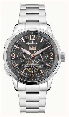 Ingersoll Mens The Regent Automatic Black Chronograph Stainless Steel I00304