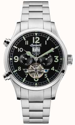 Ingersoll Men's The Armstrong Automatic Black Chrono Stainless Steel I02103