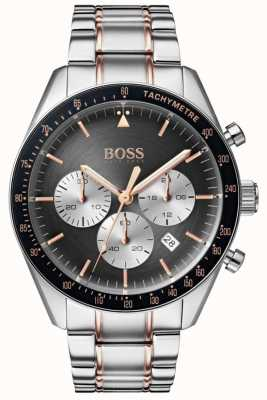 Boss Mens Trophy Watch Grey Chronograph Dial Stainless Steel 1513634